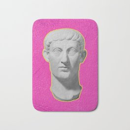 Emperor Constantine Rolling His Eyes Bath Mat