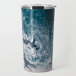I love the sea - written on the beach Travel Mug