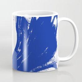 Marble blue 1 Suminagashi watercolor pattern art pisces water wave ocean minimal design Coffee Mug