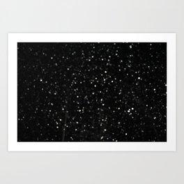 Bokeh Snowfall 2 Art Print