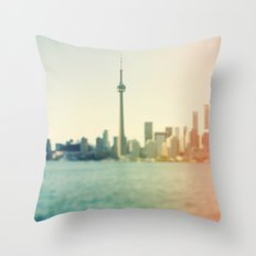 Shades Of The City Throw Pillow
