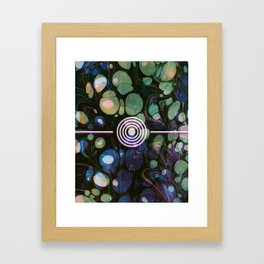 Abstract Painting - Marbling Art 02- Fluid Painting - Blue Green, Black Abstract - Modern Abstract Framed Art Print
