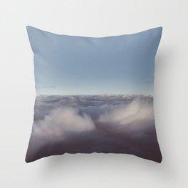 Panorama of clouds over sky Throw Pillow