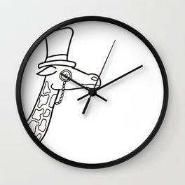 Dapper Giraffe Wall Clock