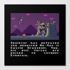 Super Skeletor World Canvas Print