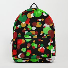 Numerous bubbles of different sizes of Christmas colors Backpack