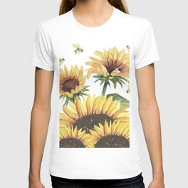 Sunflowers and Honey Bees T-shirt