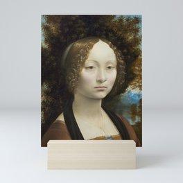 Leonardo da Vinci Ginevra de' Benci 1474 -1478 Painting Mini Art Print