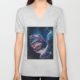 Betta fish Unisex V-Neck