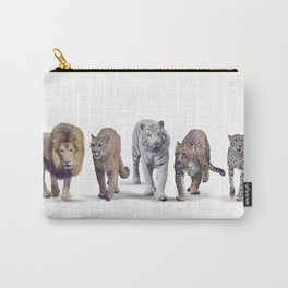 Group of Wild cats on white background Carry-All Pouch
