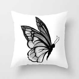 Ink butterfly Throw Pillow