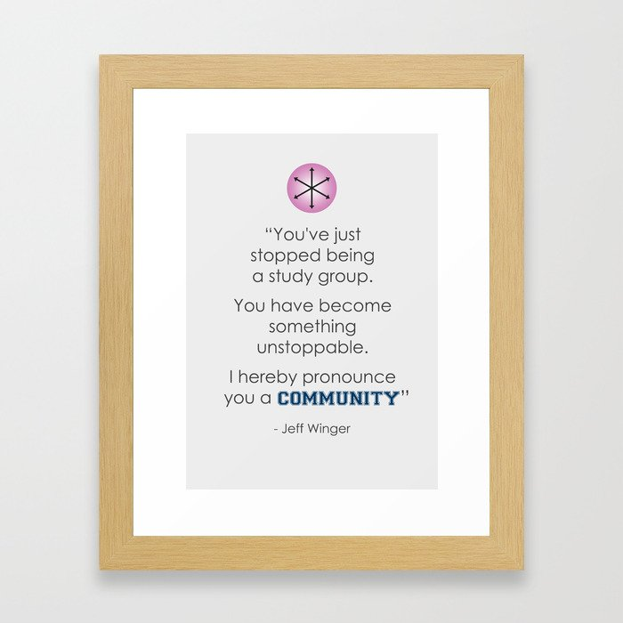 Community Quote Print Framed Art Print