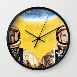 SPACE AWAITS RITA HAYWORTH Wall Clock