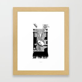 A moral tale about Motherhood. Framed Art Print