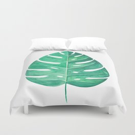 Monstera Leaf #2 | Watercolor Painting Duvet Cover