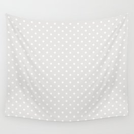 Dots (White/Platinum) Wall Tapestry