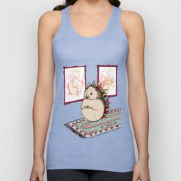 Hedgehog Artist Unisex Tank Top