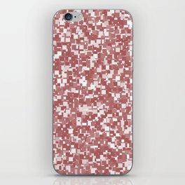 Dusty Cedar Pixels iPhone Skin