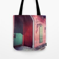 door Tote Bags featuring Door by wendygray