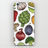 food iPhone & iPod Skins featuring Food by Sam Magee