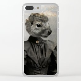 Miss Squirrel Clear iPhone Case