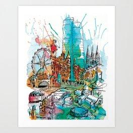 Colours of Melbourne Art Print