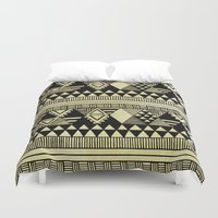 chic Duvet Covers featuring Ethnic Chic by Louise Machado