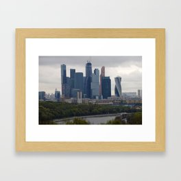 Moscow Highrises Framed Art Print