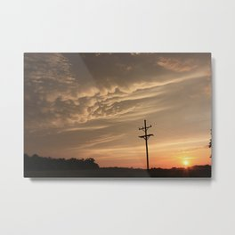 Stormy Night (Puffy Cloud's) Metal Print