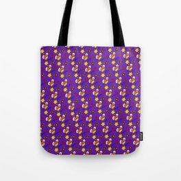 Hammy Pattern in Dark Purple Tote Bag