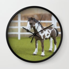 The Little Painted Pony Wall Clock
