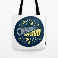 onward Tote Bags featuring Onward by J. Zachary Keenan