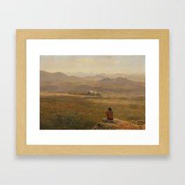 Albert Bierstadt - The Lookout (1900) Framed Art Print