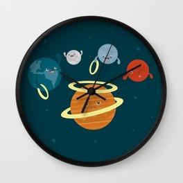 Saturn Ring Toss Wall Clock