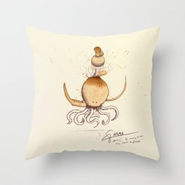 #coffeemonsters 491 Throw Pillow
