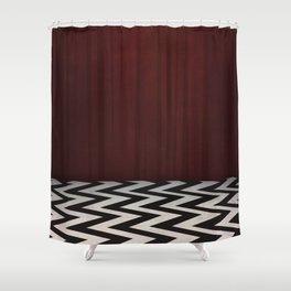 orange chevron shower curtain. Black Lodge  Red Room Twin Peaks Shower Curtain Chevron Curtains Society6