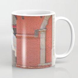 CONTEMPLATING THE OPTIONS AT BHAKTAPUR NEPAL Coffee Mug