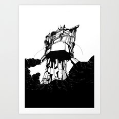 unobtrusive location Art Print