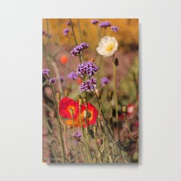 Amid the Poppies Metal Print
