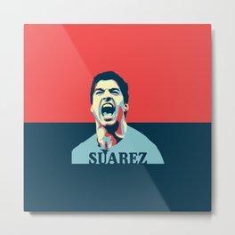 Luis Suarez, number one Uruguayan player. Metal Print