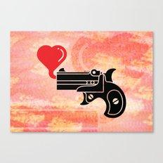 Pistol Blowing Bubbles of Love Canvas Print