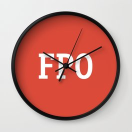 For Placement Only - FPO - Artwork (Google Plus Red) Wall Clock