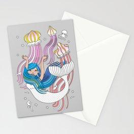 Mermaid with Medusas Stationery Cards
