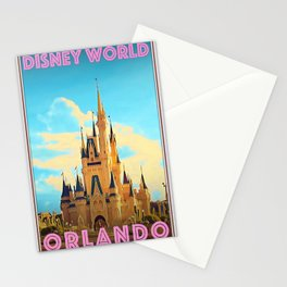 Retro Vintage Style Travel Poster or Canvas Picture - Walt Dis-ney World Orlando Stationery Cards
