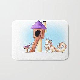 Cat Condo Housewarming Bath Mat