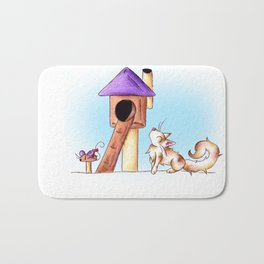 Cat Condo Housewarming Bath Mat