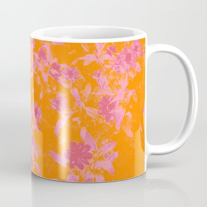 Floral trio tone photograph with orange and pinks Coffee Mug
