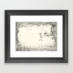 Witches on a Walk Framed Art Print