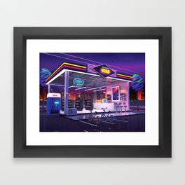 VHS Video Store Framed Art Print