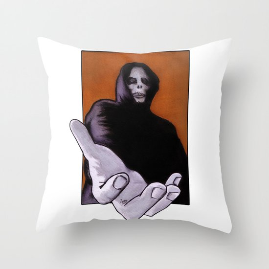 Death Goes In Fear of What It Cannot Be Throw Pillow